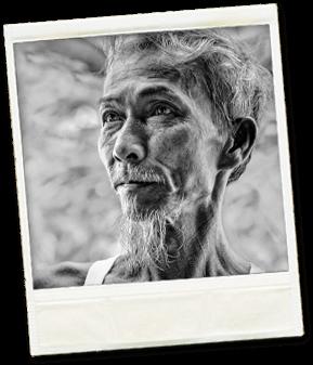 Portrait d'un vieil homme vietnamien
