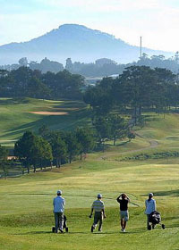 Parcours de golf au Vietnam.
