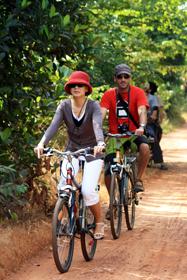 Randonnée en vélo au Vietnam.