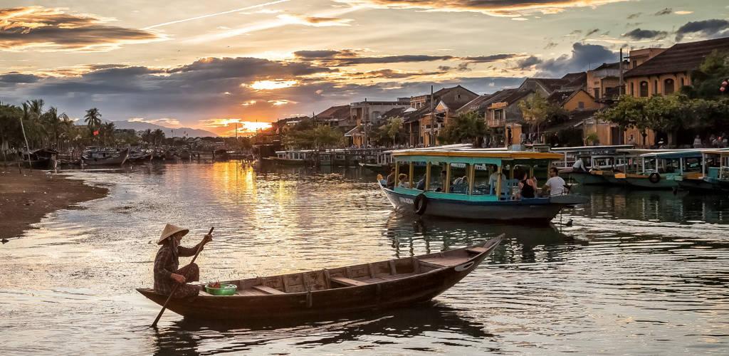 Vélo-taxi au Vietnam.