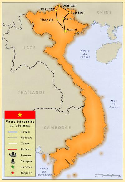Carte du Vietnam.