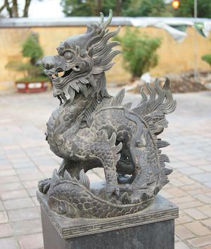 statue de dragon au Vietnam.