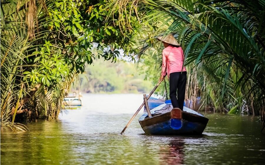 vietnam bateau delta mekong.