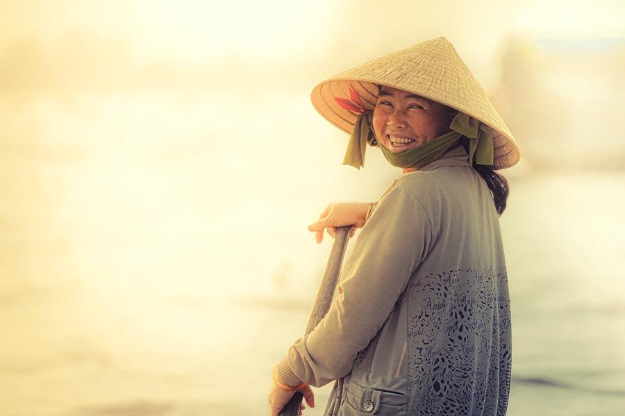 portrait femme delta mekong.