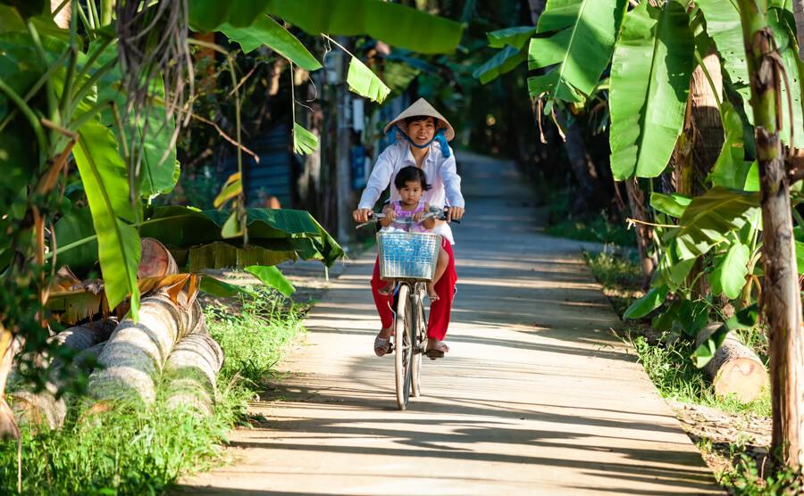 maman enfant vélo cocotier.
