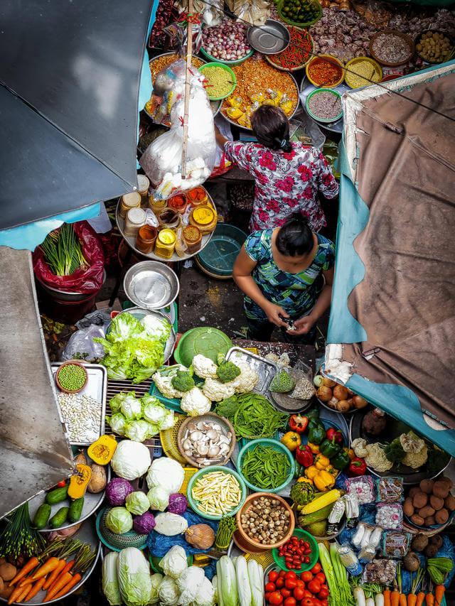 marché légumes.