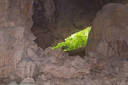grotte vue intérieure.