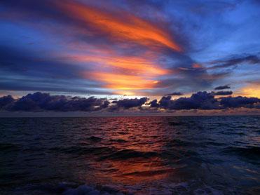 coucher de soleil mer.