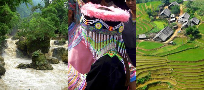Hôtels dans les montagnes du nord au Vietnam.