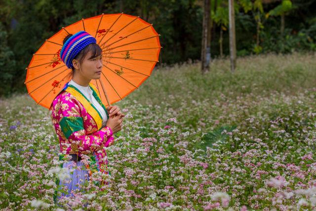portrait vietnamienne ombrelle.