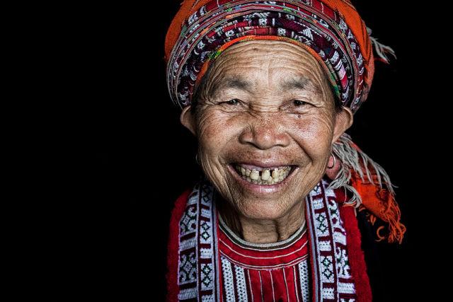 portrait mamie sourire.