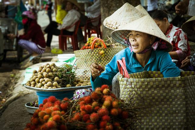 Marché vietnamien.