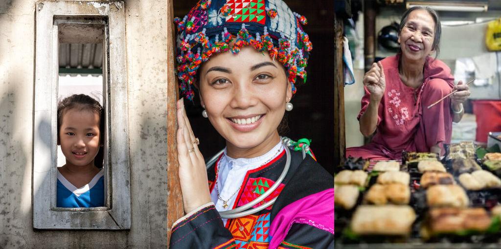 Trois générations de femmes vietnamiennes.