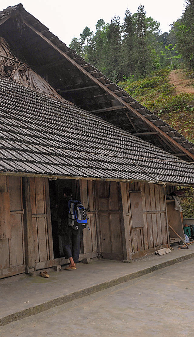 seuil maison traditionnelle vietnam.